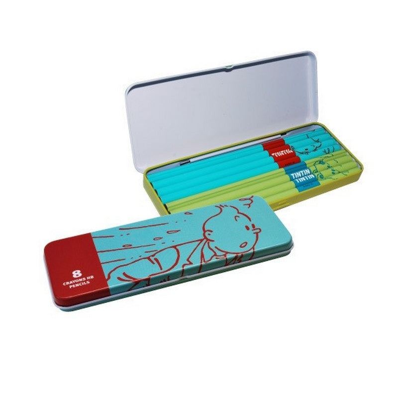 PENCIL CASE - TINTIN OSCAR TURQUOISE