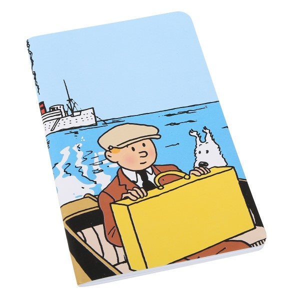 NOTEBOOK : TINTIN & SNOWY ON BOAT