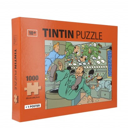 JIGSAW PUZZLE - TINTIN IN SPACE 1000 PIECES