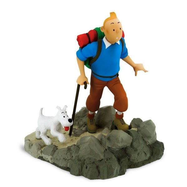 RESIN COLLECTIBLE - TINTIN HIKER MOON