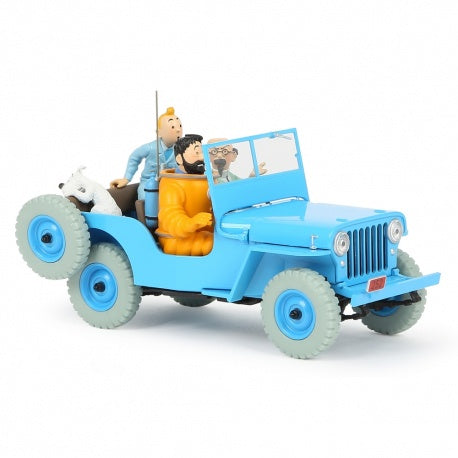 TINTIN CARS 1/24 - BLUE WILLYS