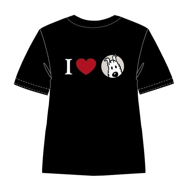 T-SHIRT - I LOVE SNOWY BLACK SIZE 12, S ONLY