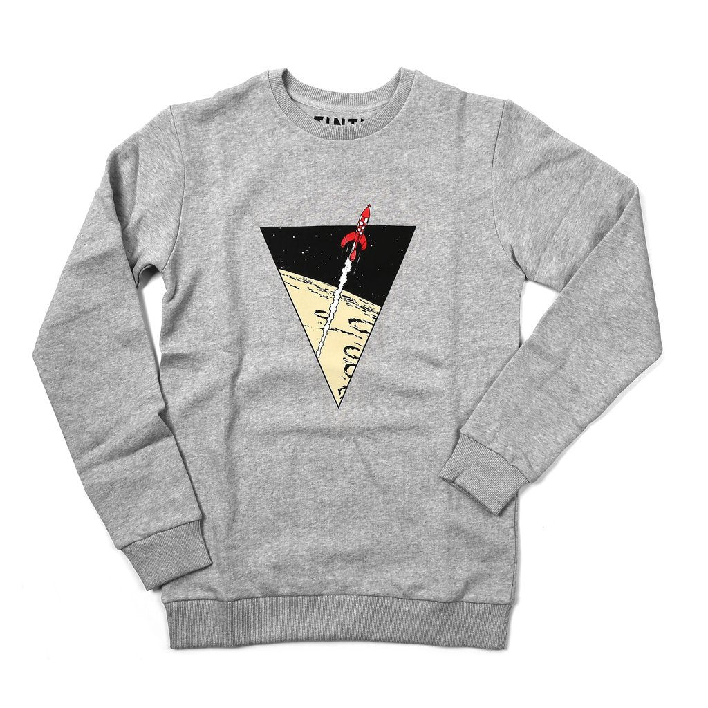 SWEATER - TRIANGLE ROCKET LIGHT GREY