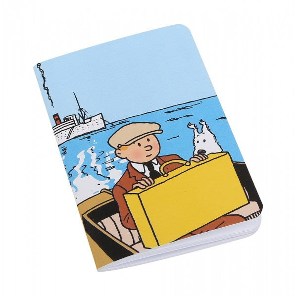 NOTEBOOK : TINTIN & SNOWY ON BOAT SMALL