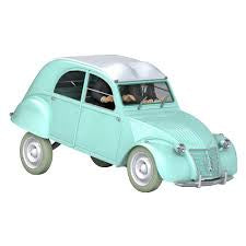 TINTIN CARS 1/24 - THE THOMPSONS 2 CV