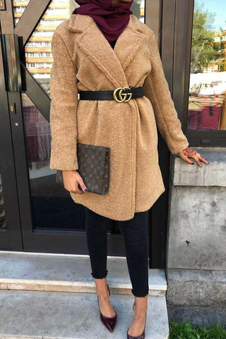 Teddy Bear Coat Camel