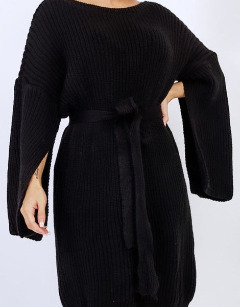 Laura Jumper Dress Black