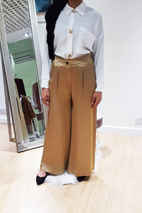 Milano Silk Wide Leg Trousers