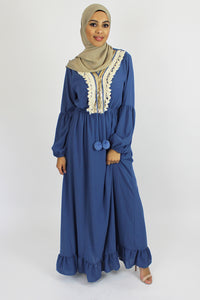 Tassel Maxi Dress Blue