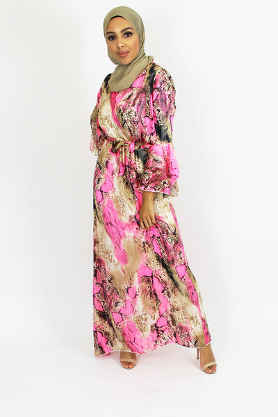 Maxine Printed Kaftan Maxi Dress