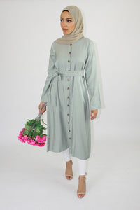 Ava Shirt Dress Mint
