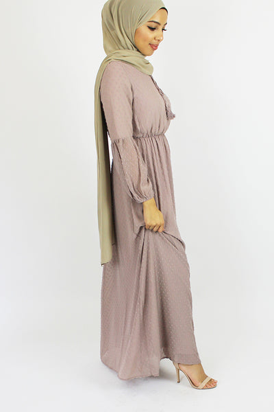 Belle Pom Pom Textured Maxi Dress Pink