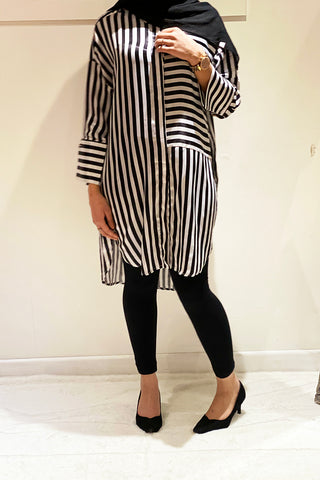 Talie Oversized Stripey Shirt