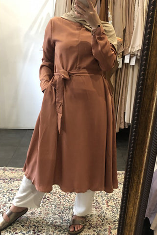 Amena Zip Tunic Apricot