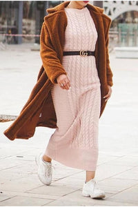 Kayla Knit Maxi Jumper Tan