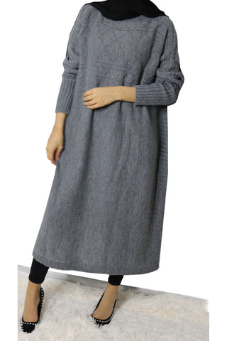 Ivy Knit Cape Jumper Grey