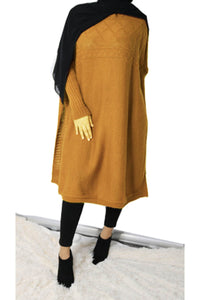 Ivy Knit Cape Jumper Mustard