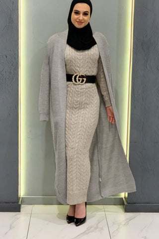 Lucy Knit Open Cardigan Grey