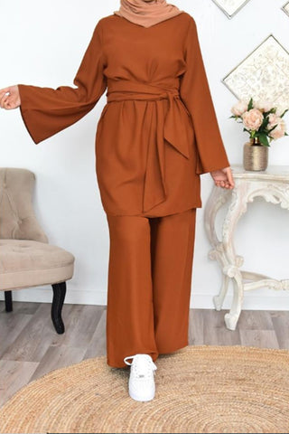 Dina New Co-ord Set Brown
