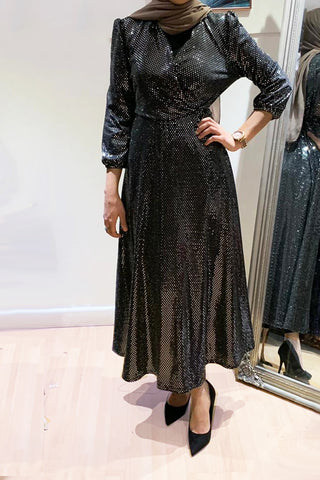 Glitzy Gown Dress