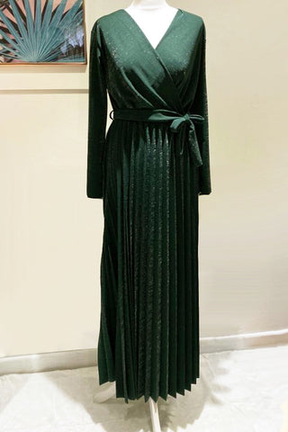 Nina Sparkle Maxi Dress Emerald