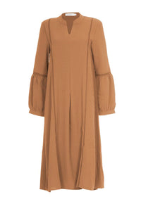 Simone Soft Blend Midi Dress Tanned