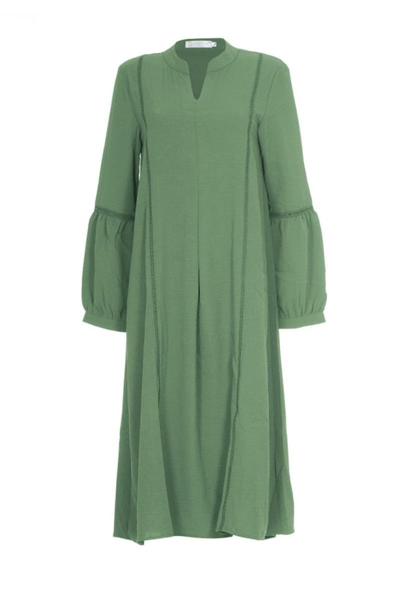 Simone Soft Blend Midi Dress Lake Green