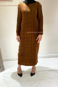 Alice Knit Maxi Jumper Brown