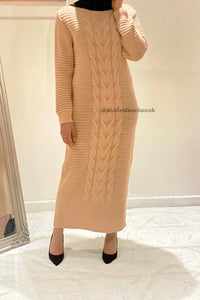 Alice Knit Maxi Jumper Stone