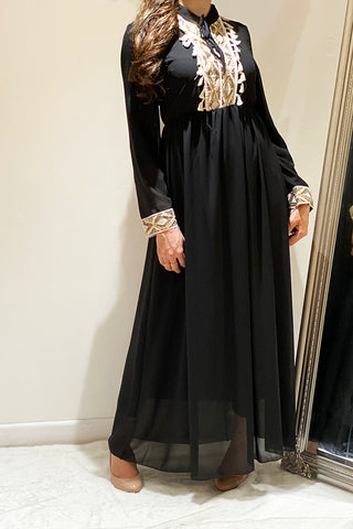 Emery Embellished Party Maxi Dress Black