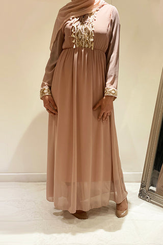 Emery Embellished Party Maxi Dress Pink
