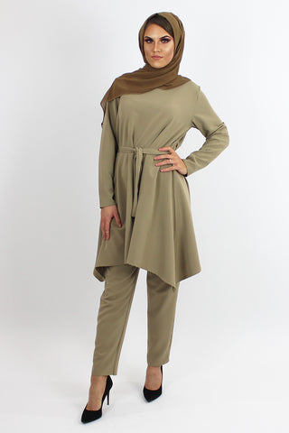 Amila Dress & Trouser Co-ord Set MOCHA