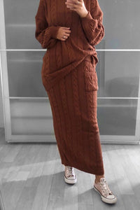 Knit Co-ord Set Rust