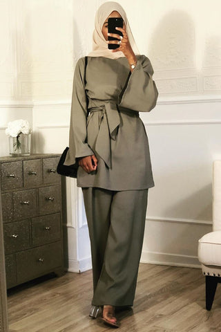 Dina New Co-ord Set Grey