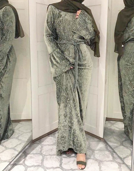 Velvora Abaya Dress Khaki