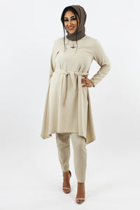 Amila Dress & Trouser Co-ord Set CREAM