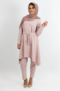 Amila Dress & Trouser Co-ord Set PINK