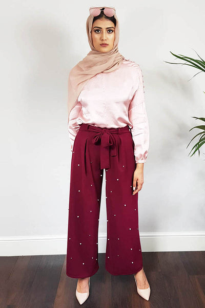 Pearl Wide Leg Trousers