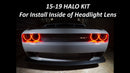 2015-2020 Dodge Challenger SXT/RT/SRT/HELLCAT Headlight Halo Kit- NON SURFACE MOUNT