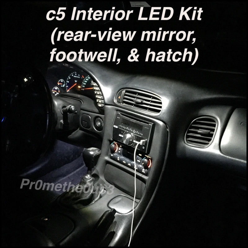 1997-2004 C5 Corvette Vette Lights Interior Plug-N-Play LED Kit