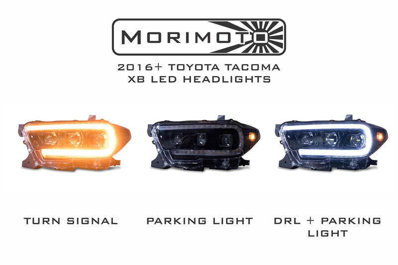 2016-2020 Toyota Tacoma: XB LED Headlights (Tri-Beam)