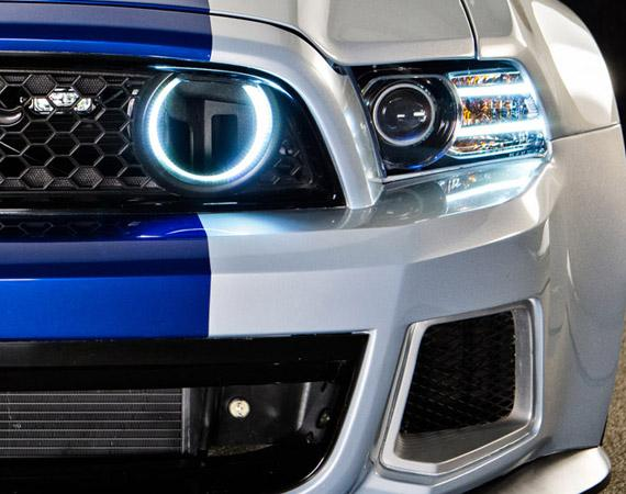 2010-2013 Ford Mustang ORACLE Waterproof Fog Light Halo Kit (Grill Fogs) (Surface Mount)