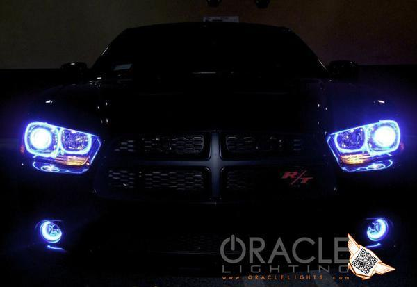 2005-2014 Dodge Charger Fog Light LED Halo Kit (Non Projector) -Waterproof