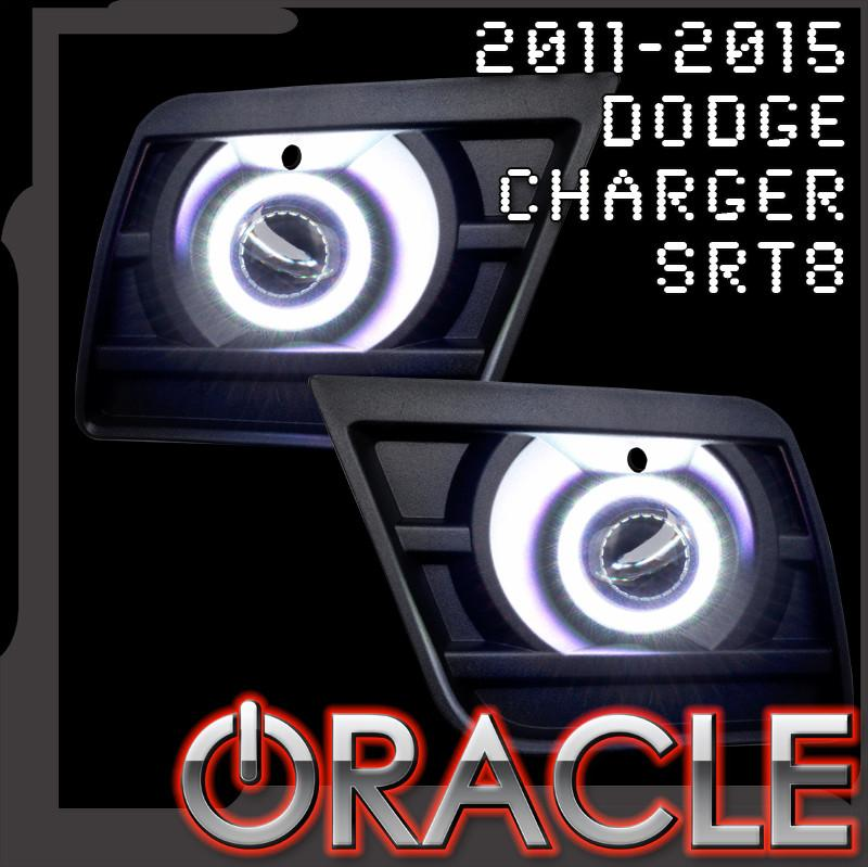 2011-2014 Dodge Charger SRT8 LED Fog Light Halo Kit (Projector Fogs)- Waterproof