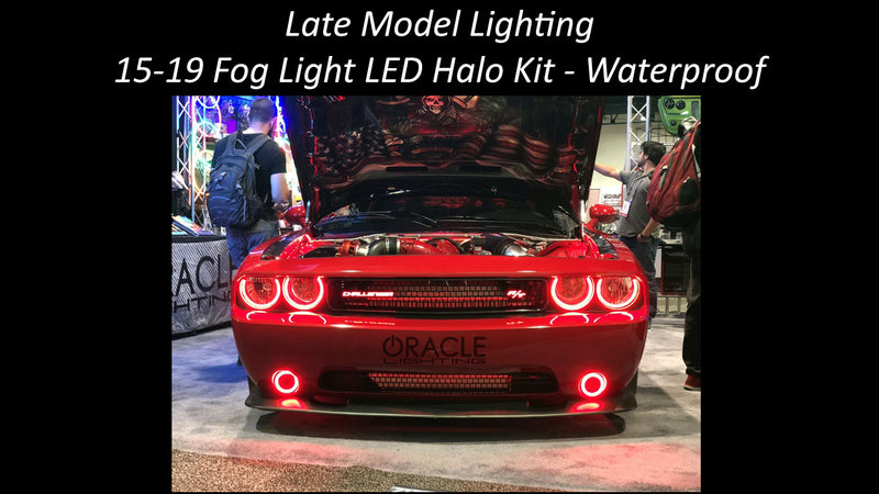2015-2019 Dodge Challenger LED FogLight Halo Kit- Surface Mount- Waterproof