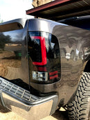 2007-2013 GMC Sierra Recon Halo LED Tail Lights