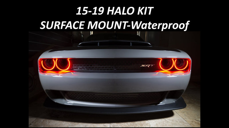 2015-2019 Dodge Challenger SXT/RT/SRT/HELLCAT HALO KIT - SURFACE MOUNT-Waterproof