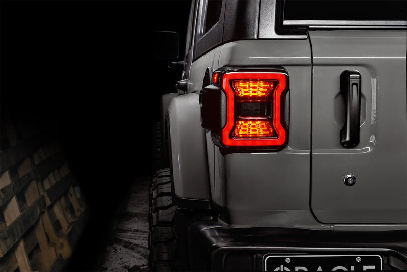 2018-2020 Jeep Wrangler JL Oracle Black Series LED Tail Lights (Plug and Play)