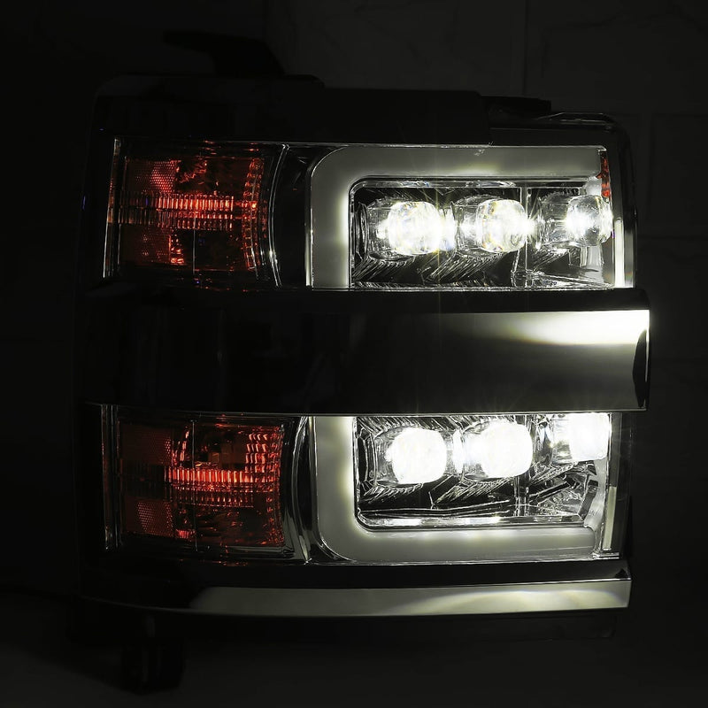 2015-2019 Chevy Silverado HD AlphaRex NOVA LED Projector Headlights