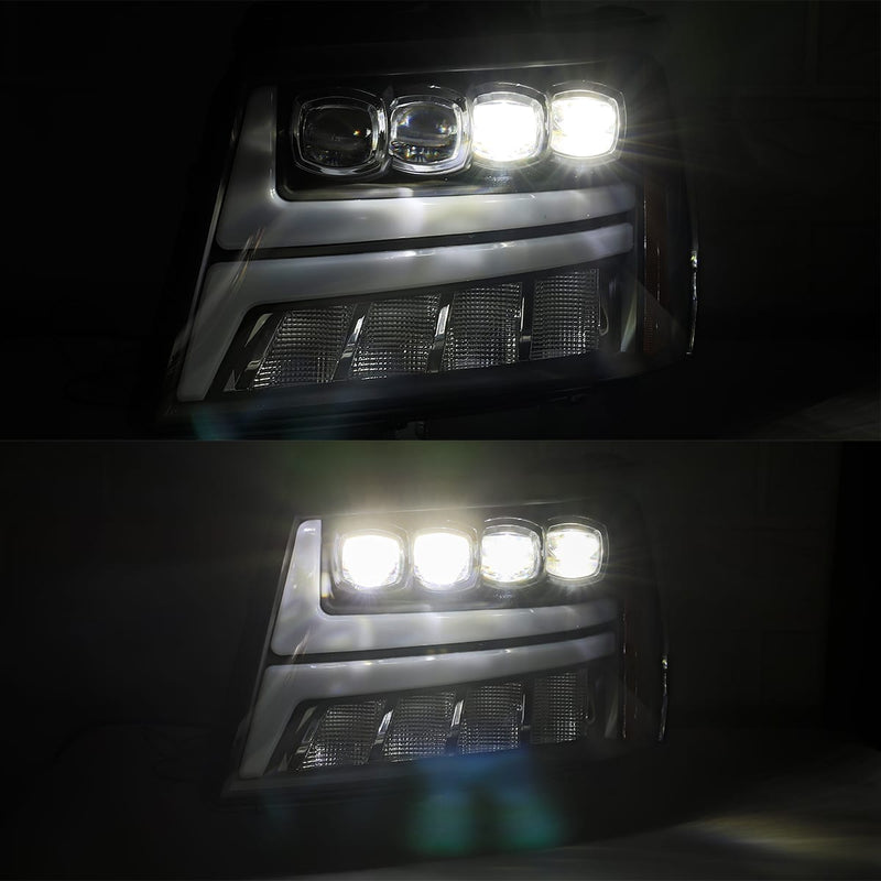 2007-2013 Chevrolet Tahoe AlphaRex NOVA LED Projector Headlights